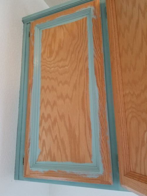 painting oak cabinets with chalk paint