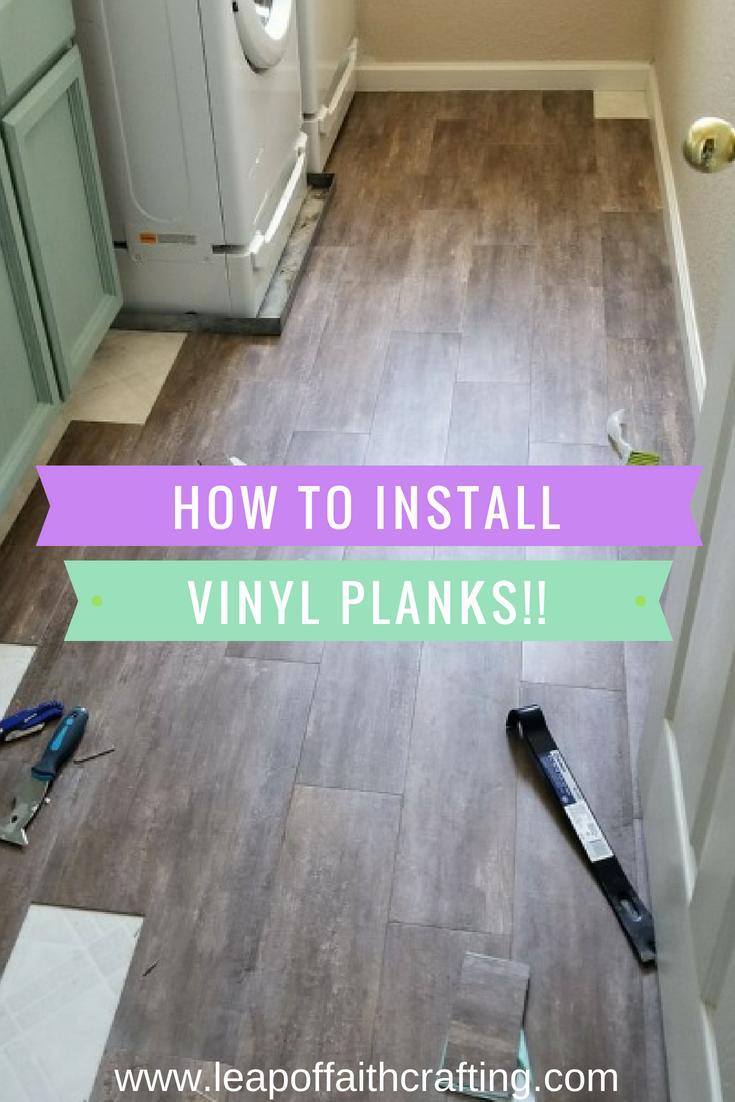 peel and stick vinyl planks pin