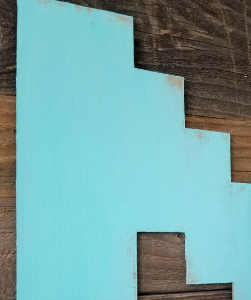 painted textured cricut chipboard letters