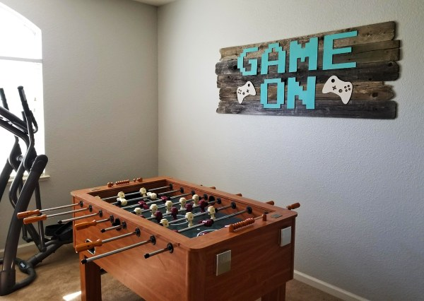 Game On DIY sign in game room