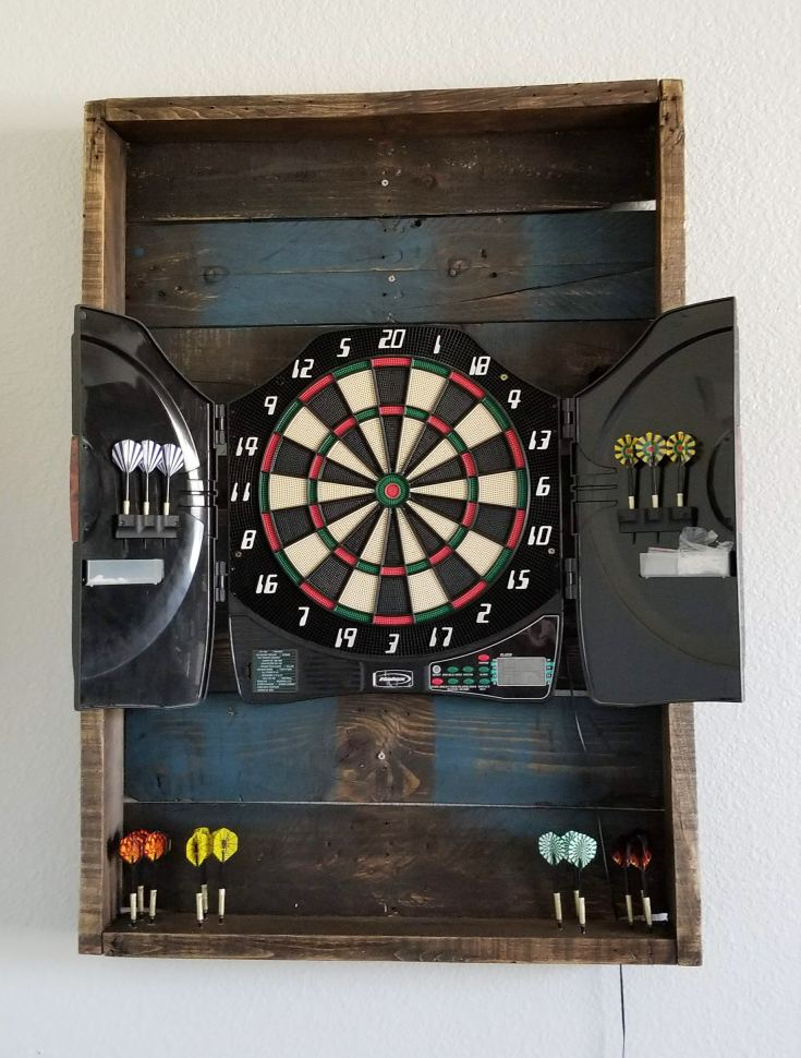 dartboard backboard diy