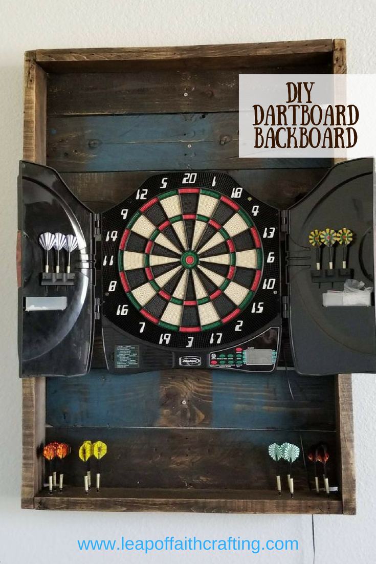 dartboard backboard diy pin