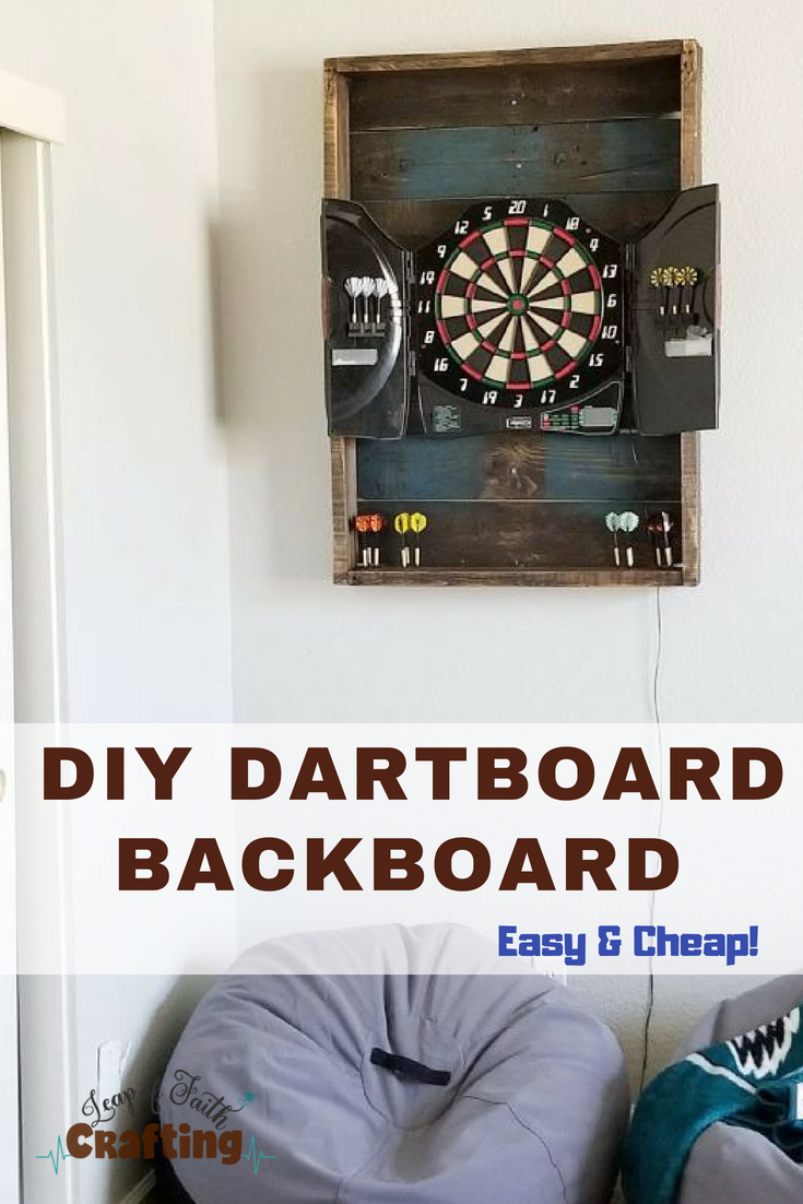 diy dartboard backboard pin