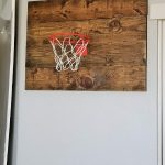 wall basketball hoop diy