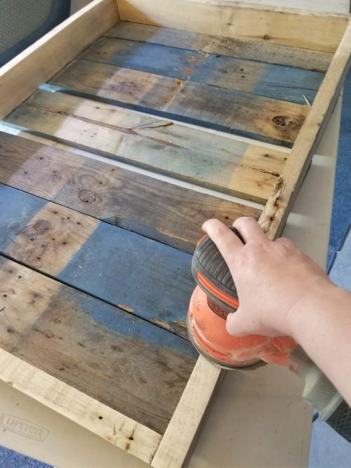 sanding a dartboard wall protector diy