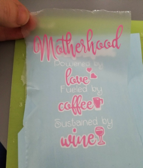 layering vinyl with transfer tape