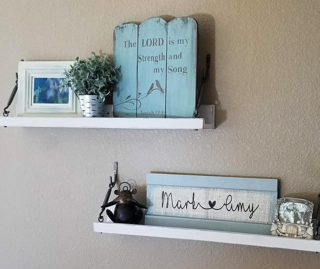 white wall shelves diy