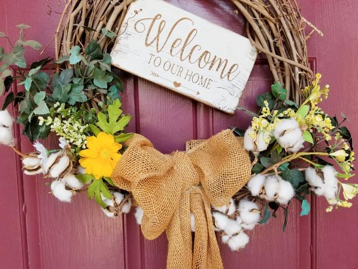 diy summer seasonal wreath