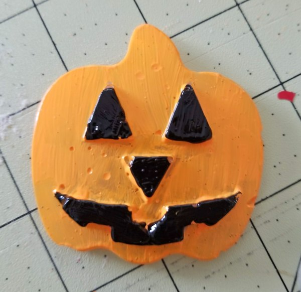 hot glue jack o lantern craft