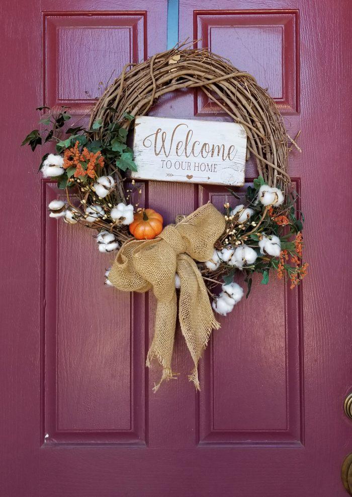 diy interchangeable wreath fall