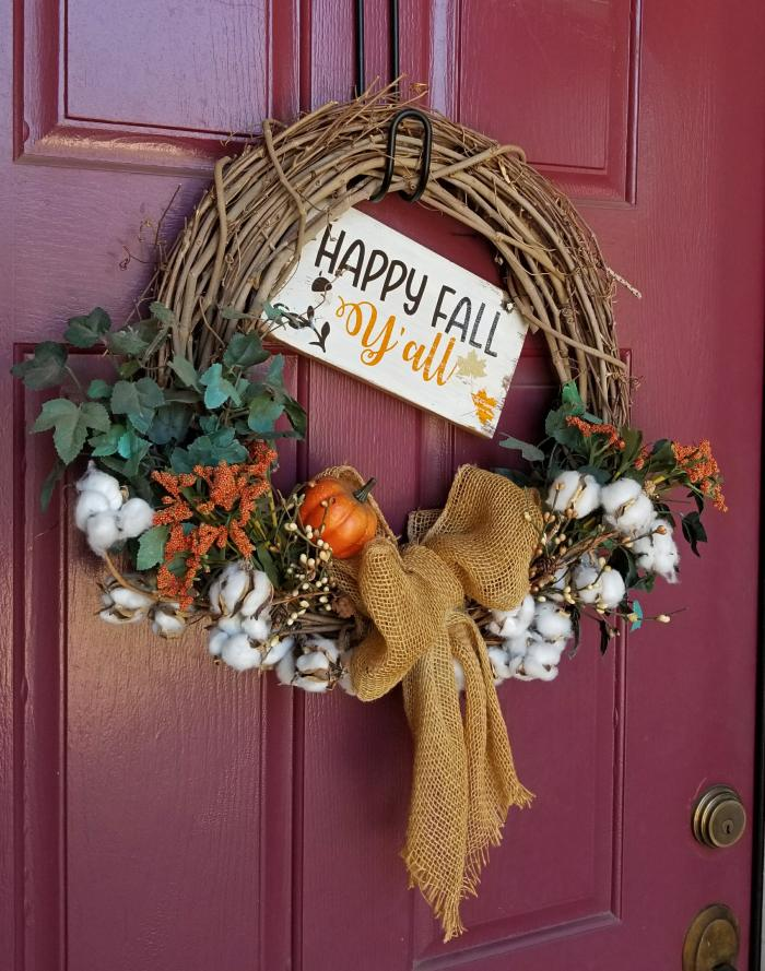 outdoor fall wreath