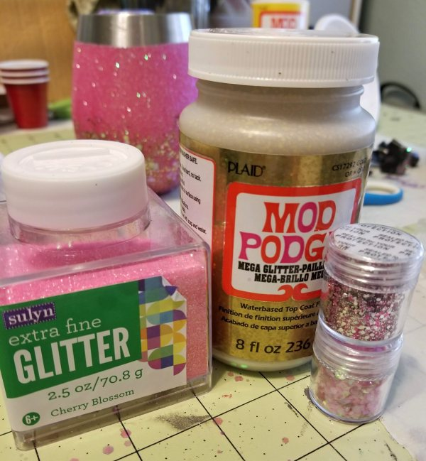 glitter used for glitter cup