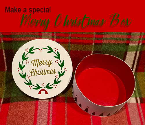 painted merry christmas box