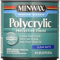 Minwax 222224444 Polycrylic Protective Finish Water Based, 1/2 pint, Matte
