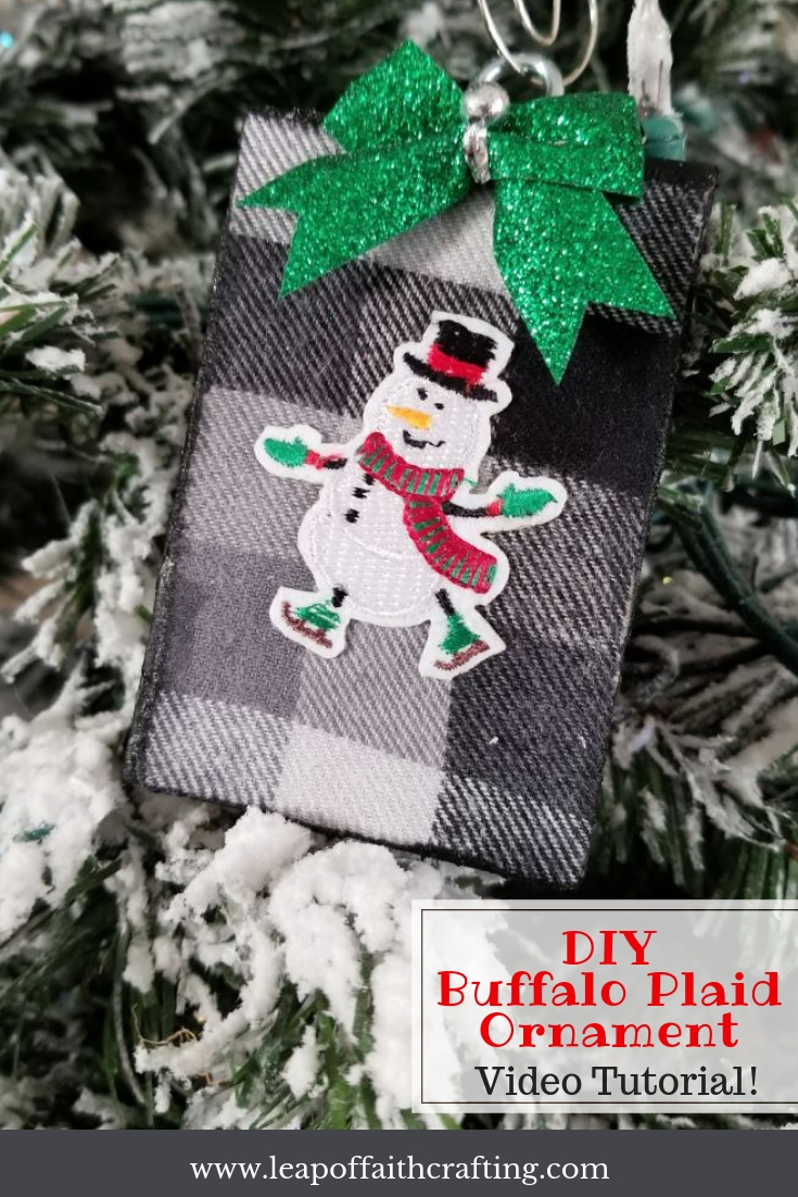 buffalo plaid ornaments pinterest