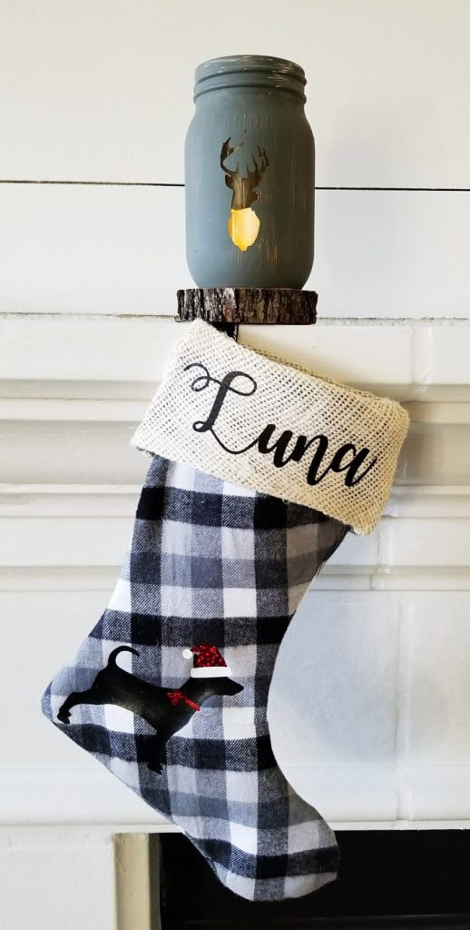 personalized buffalo plaid stockings