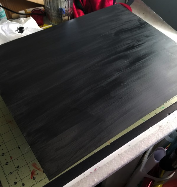 chalkboard paint on glass