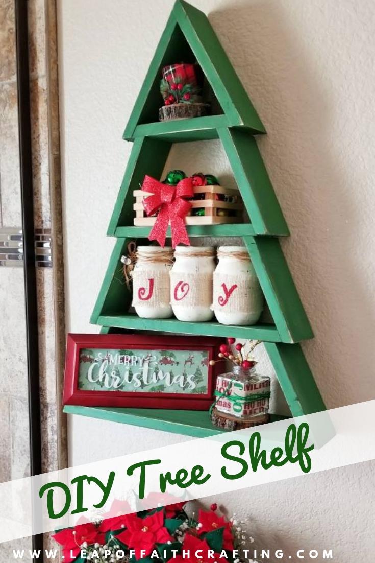 christmas tree shelf pinterest