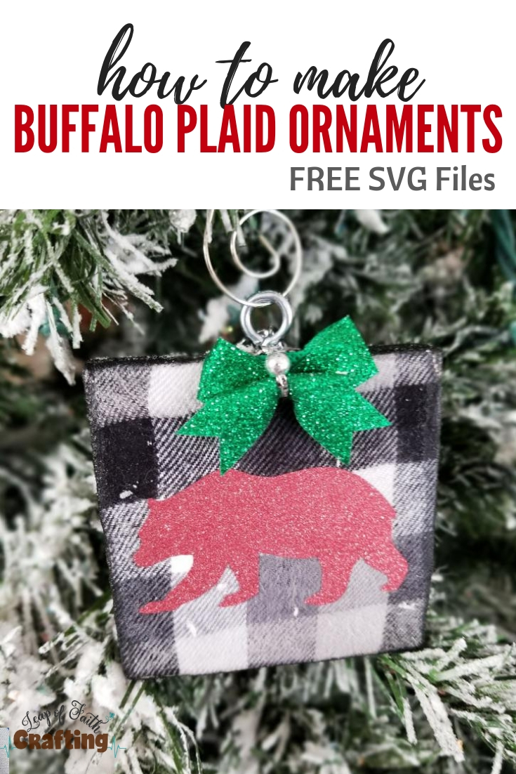diy buffalo plaid ornament pinterest