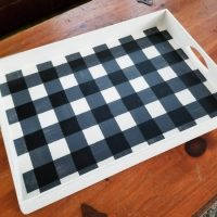 How To Paint Buffalo Plaid on Thrift Store Find!