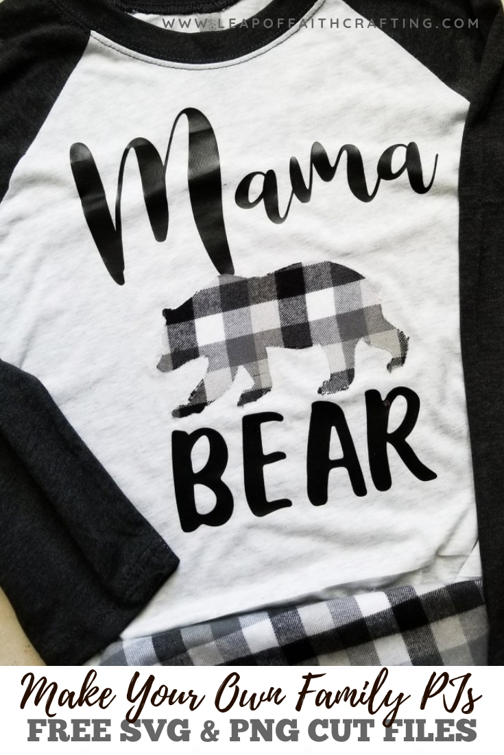 mama bear svg matching family pajamas