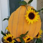 painted wooden pumpkins