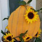 painted wooden pumpkins