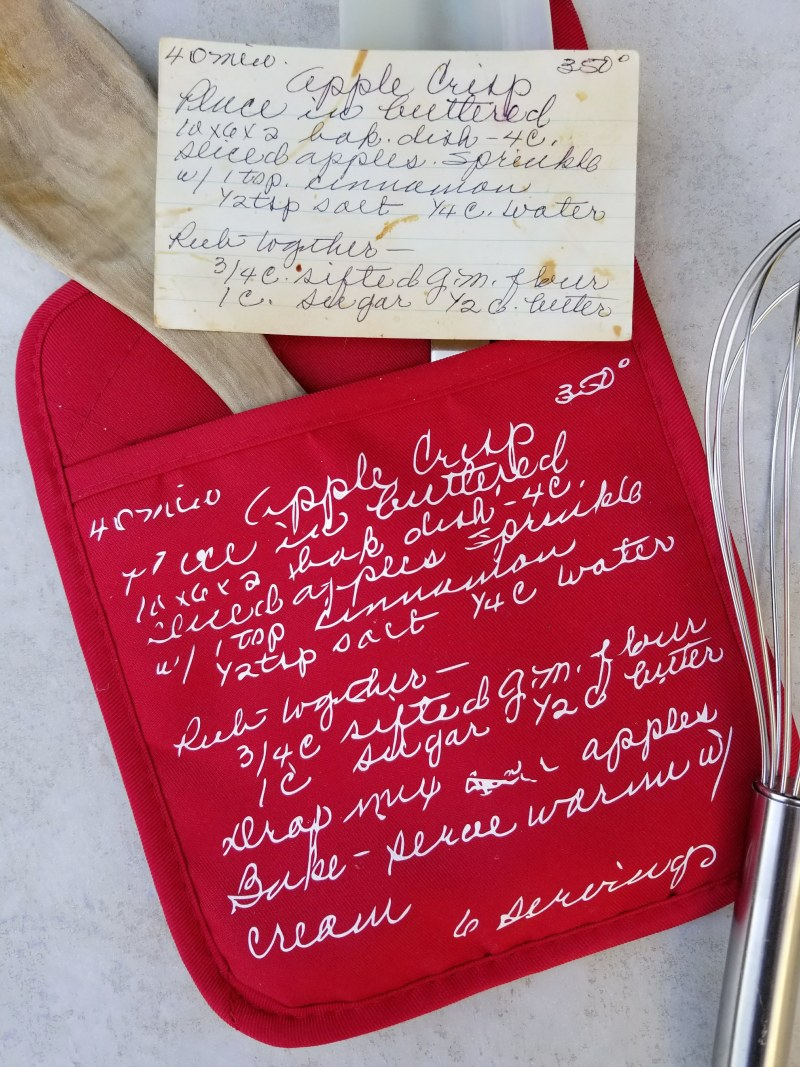 sentimental gifts cricut handwritten recipe
