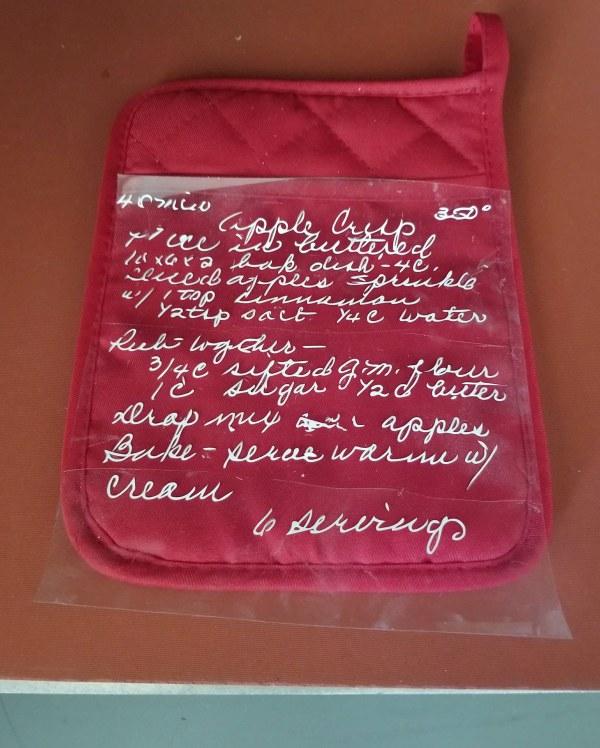 sentimental gift ideas cricut handwritten recipe