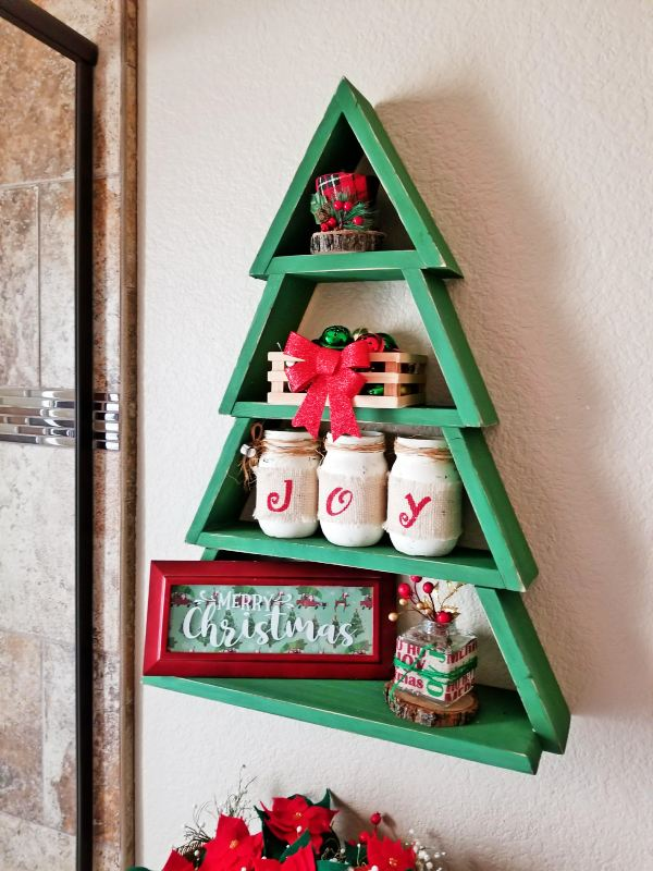 Learn How To Make A Beautiful Christmas Tree Shelf