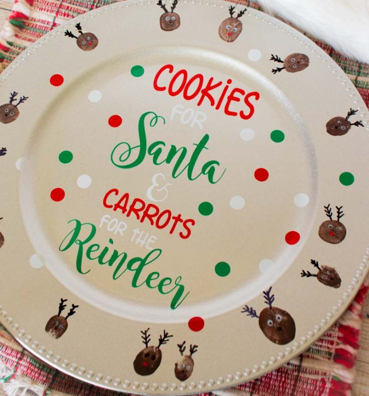 DIY Personalized Cookies for Santa Plate