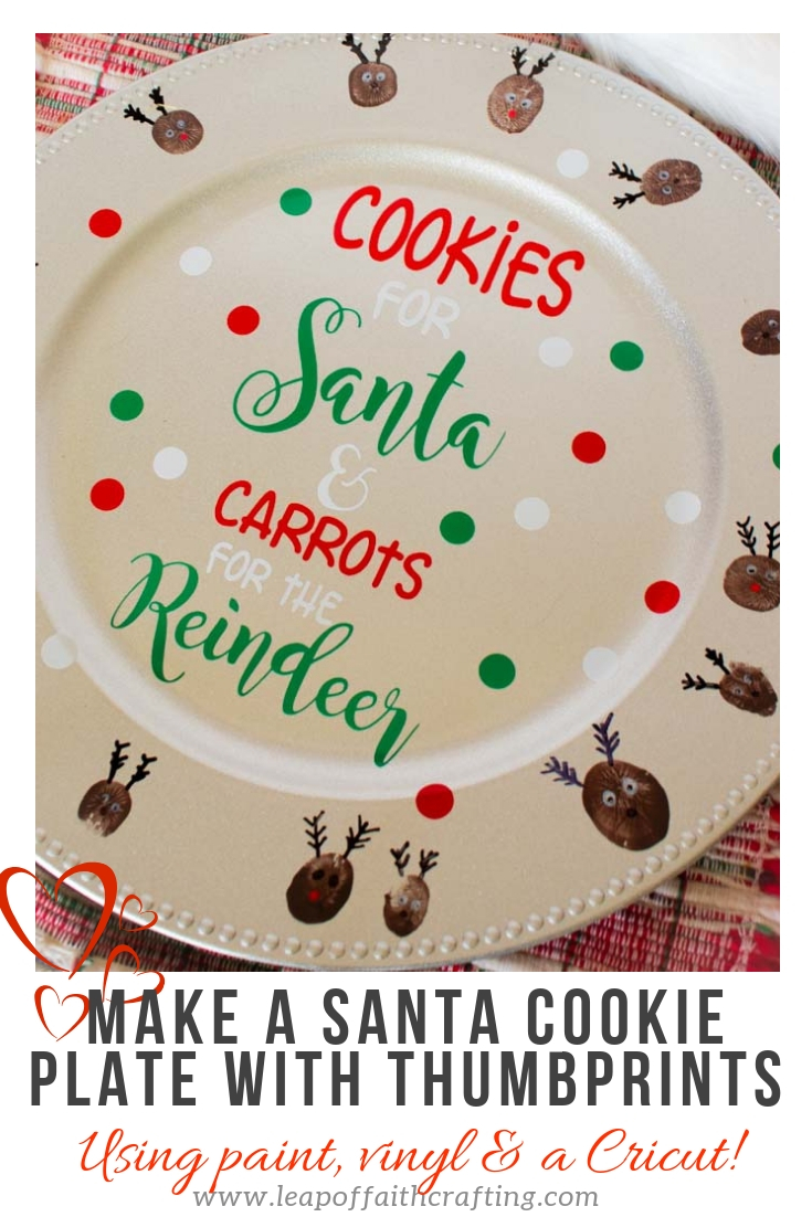Diy Personalized Cookies For Santa Plate Leap Of Faith Crafting