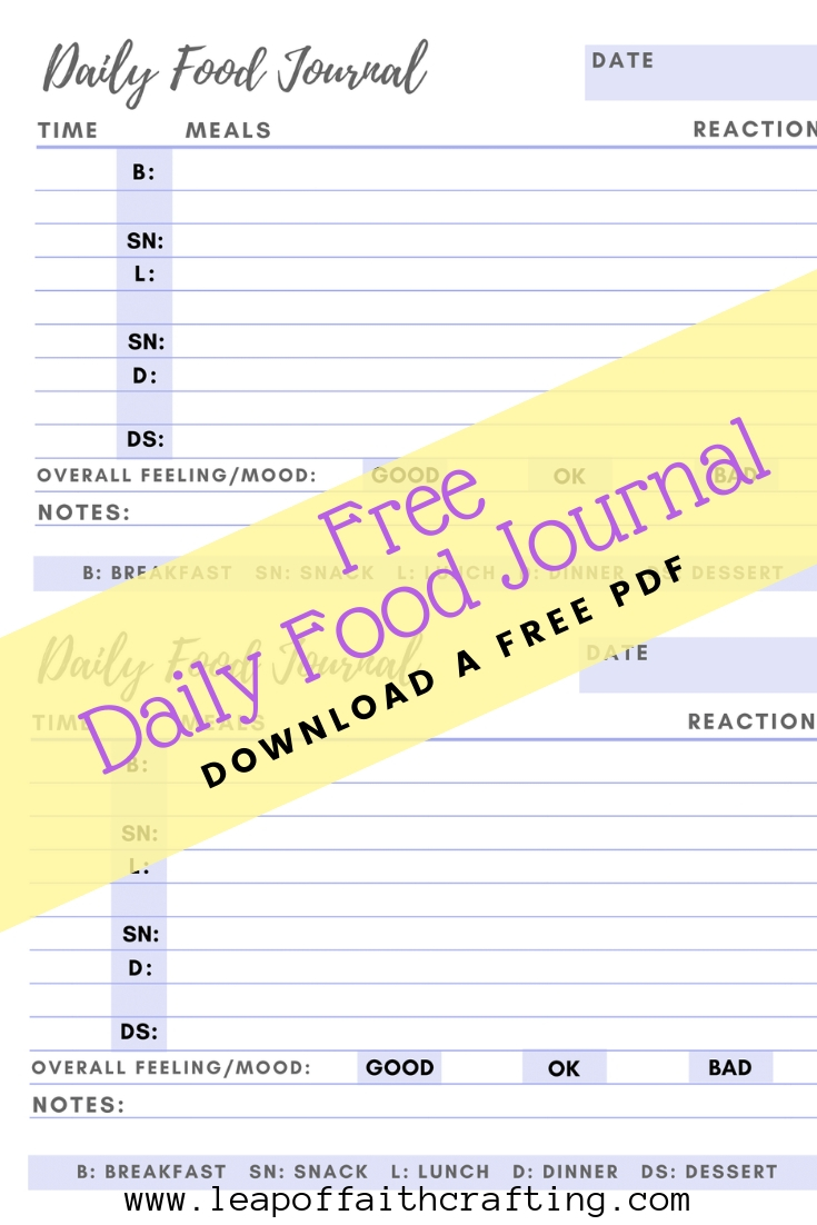 picture regarding Printable Food Journal Pdf named Meals Diary PDF: Get a Free of charge Printable in direction of Hold Keep track of of Your