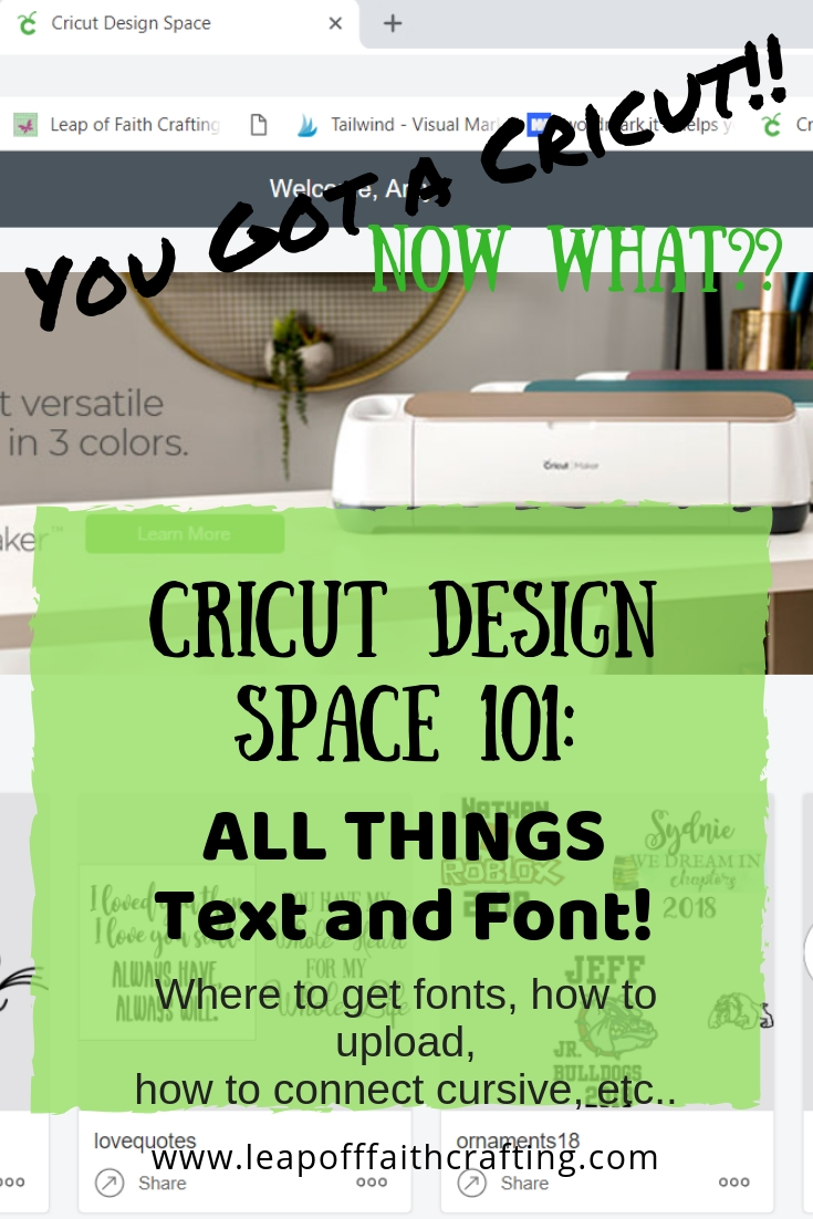Cricut Design Space Tutorial: All Things Text and Font