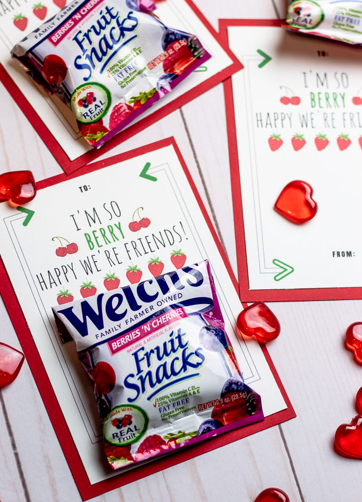 fruit snack valentines