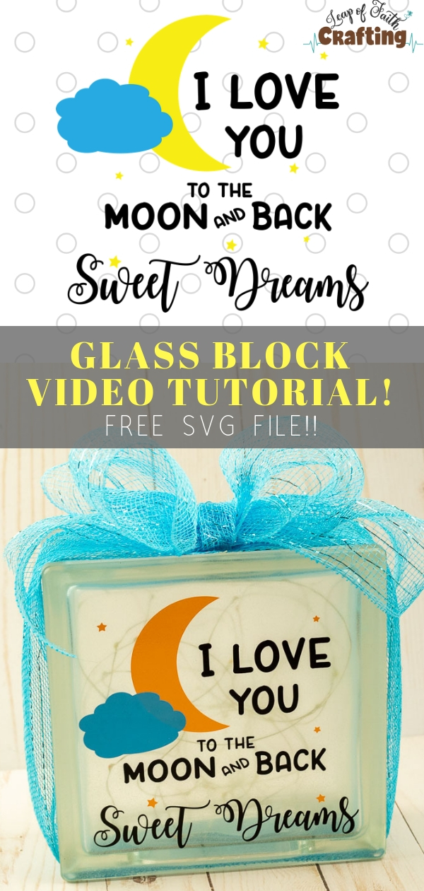 how to decorate glass blocks with vinyl pin