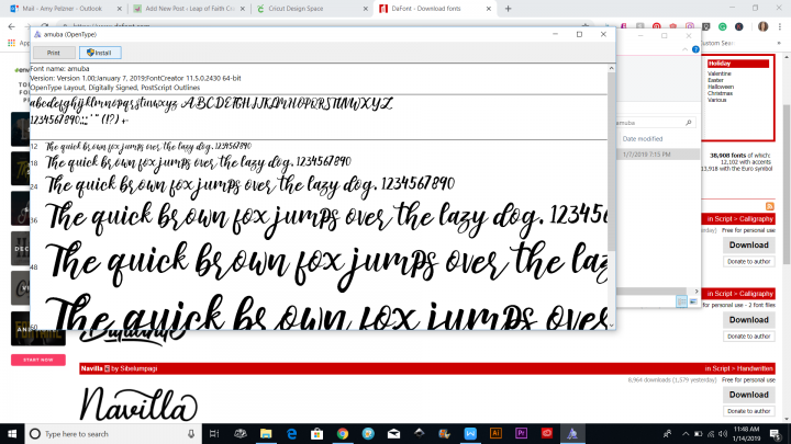 downloading fonts to computer