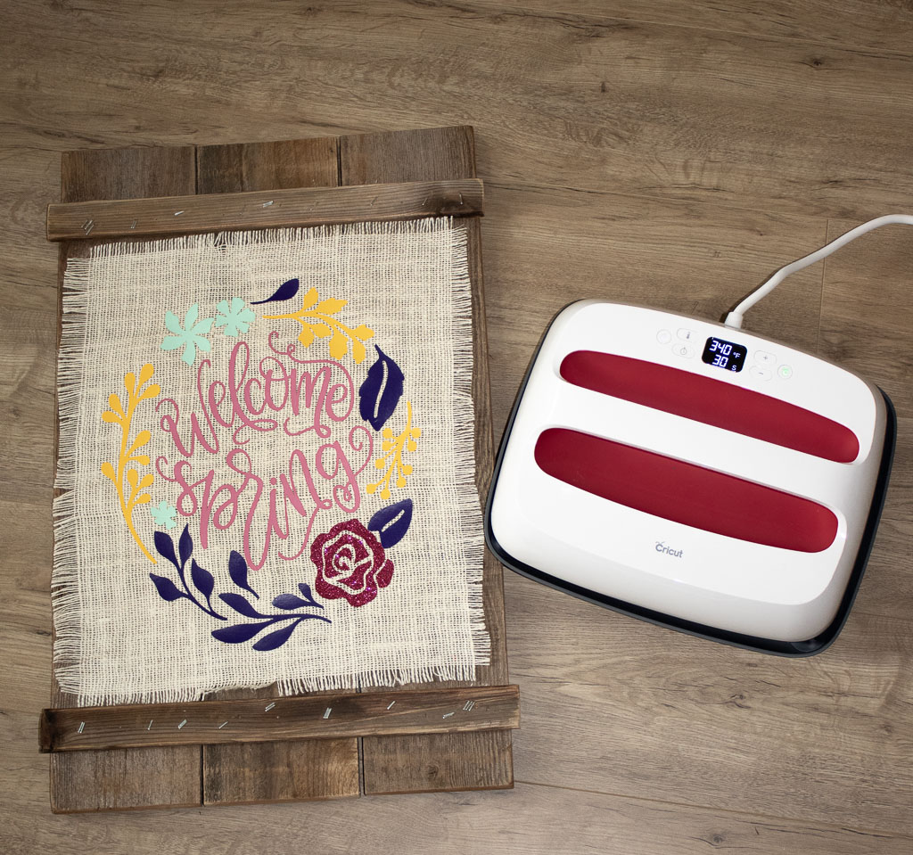 cricut easy press projects wood and burlap