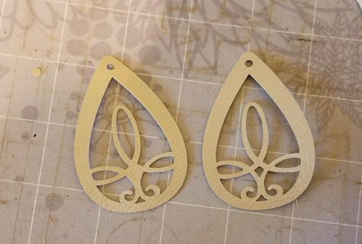 faux leather earrings cricut