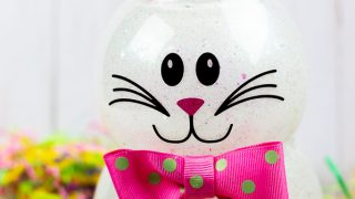How to Make a Bunny Out of Glitter and Dollar Store Supplies!
