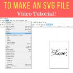 Learn how to make a SVG file in Inkscape to sell or upload to Cricut Design Space. Converting text to an SVG file is easy following these steps. #inkscape #svgfiles