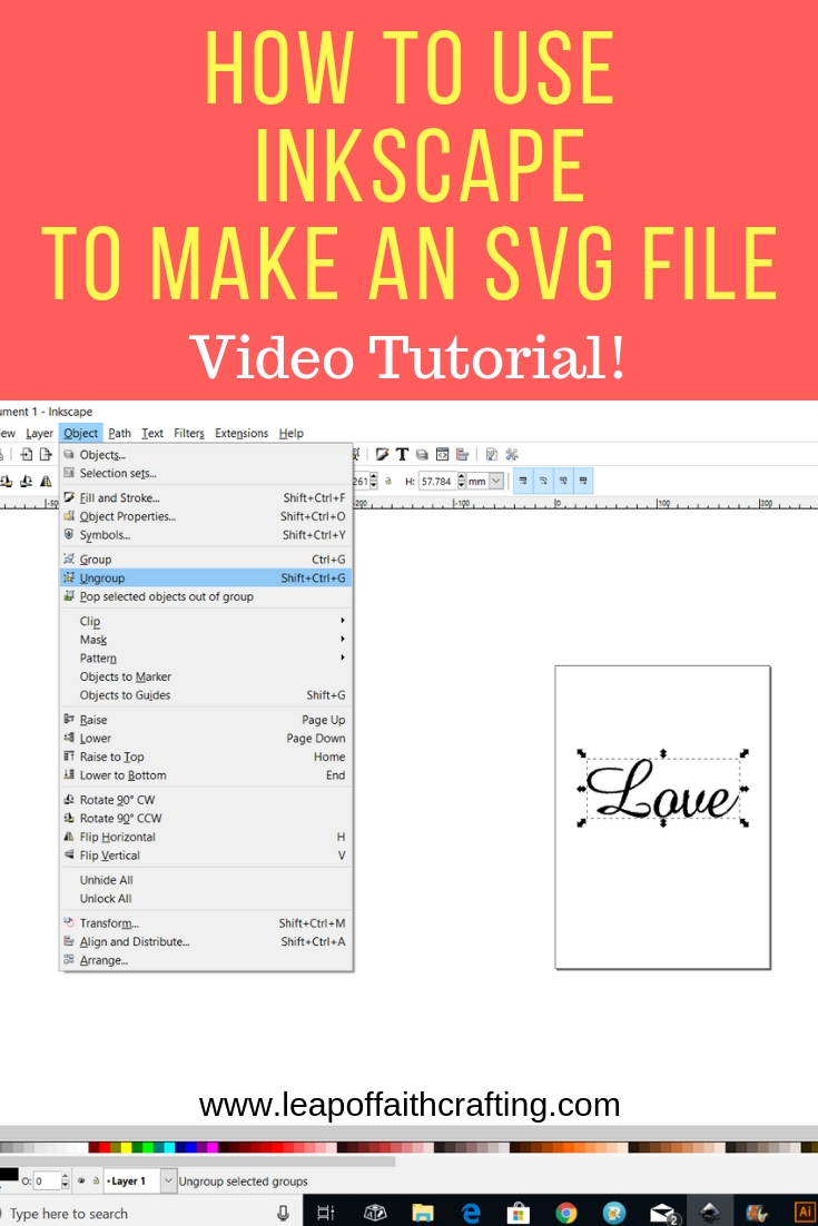 How To Make SVG Files to Sell: Beginners Inkscape Tutorial