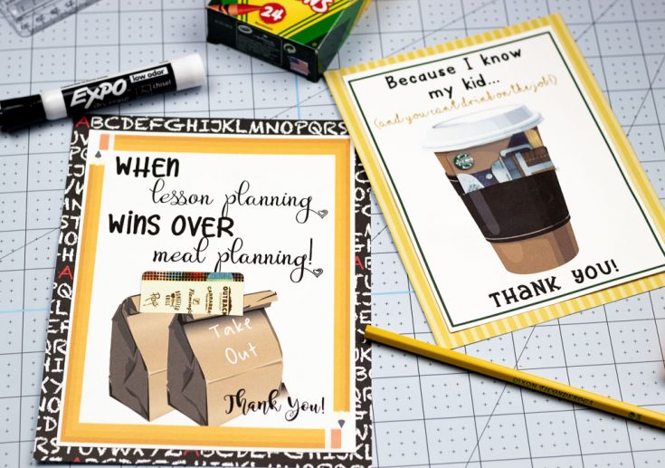Printable Teacher Appreciation Cards: Just Add a Gift Card!
