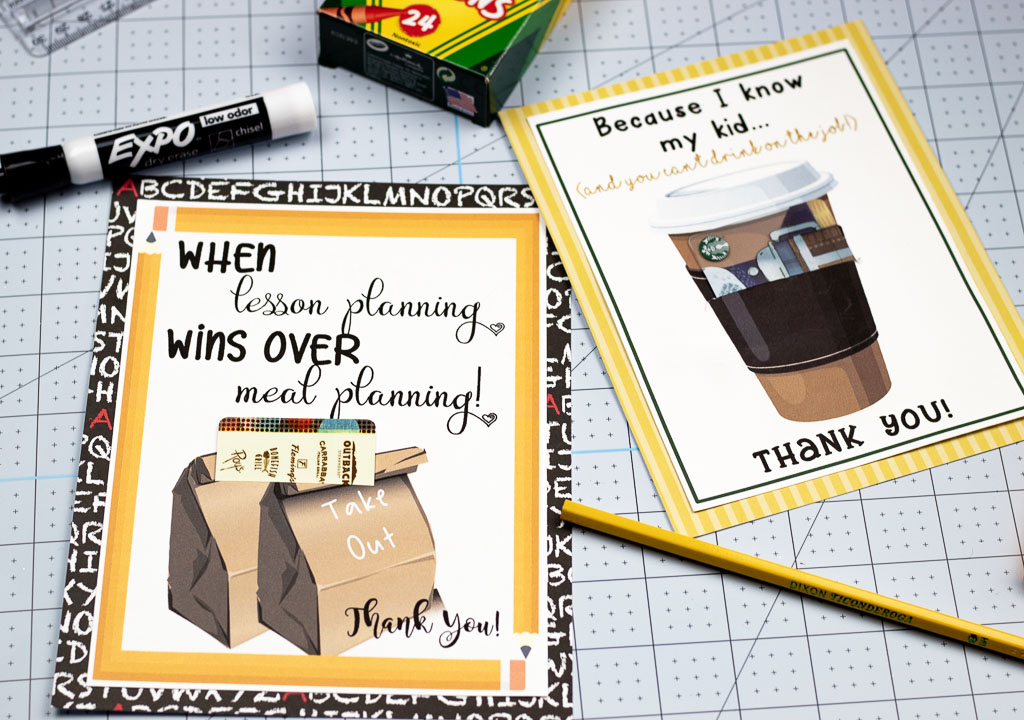 graphic about Teacher Appreciation Cards Printable referred to as Printable Trainer Appreciation Playing cards: Basically Incorporate a Reward Card