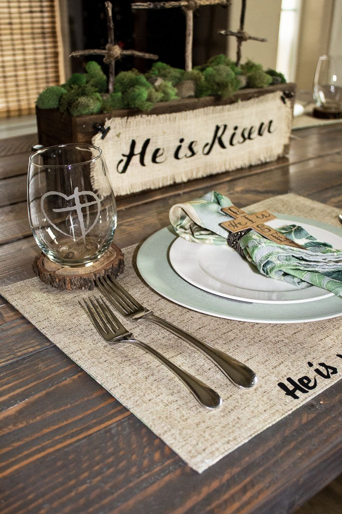 religious Easter table decorations
