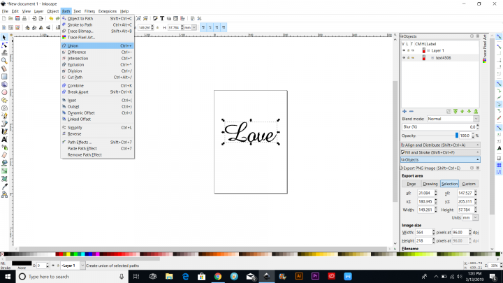 inkscape tutorial text