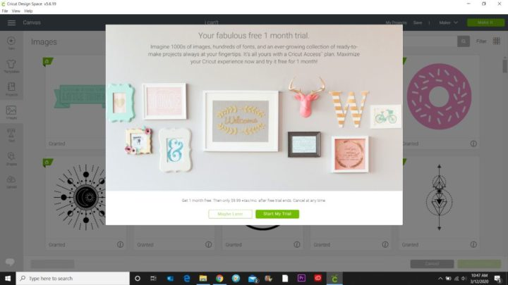 free trial of cricut access