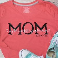 Personalized Shirts for Mom: DIY Gift That Mom's Will Love!