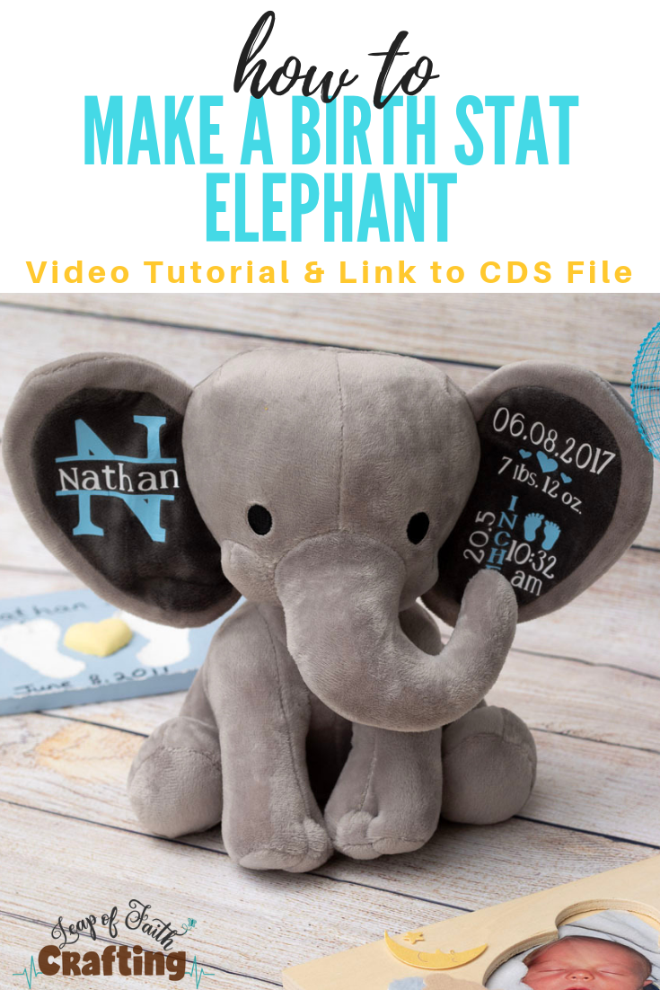 Diy Baby Gifts How To Make An Adorable Birth Stat Elephant Leap Of Faith Crafting