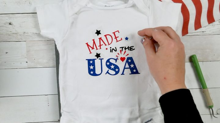 baby 4th of july outfit with cricut